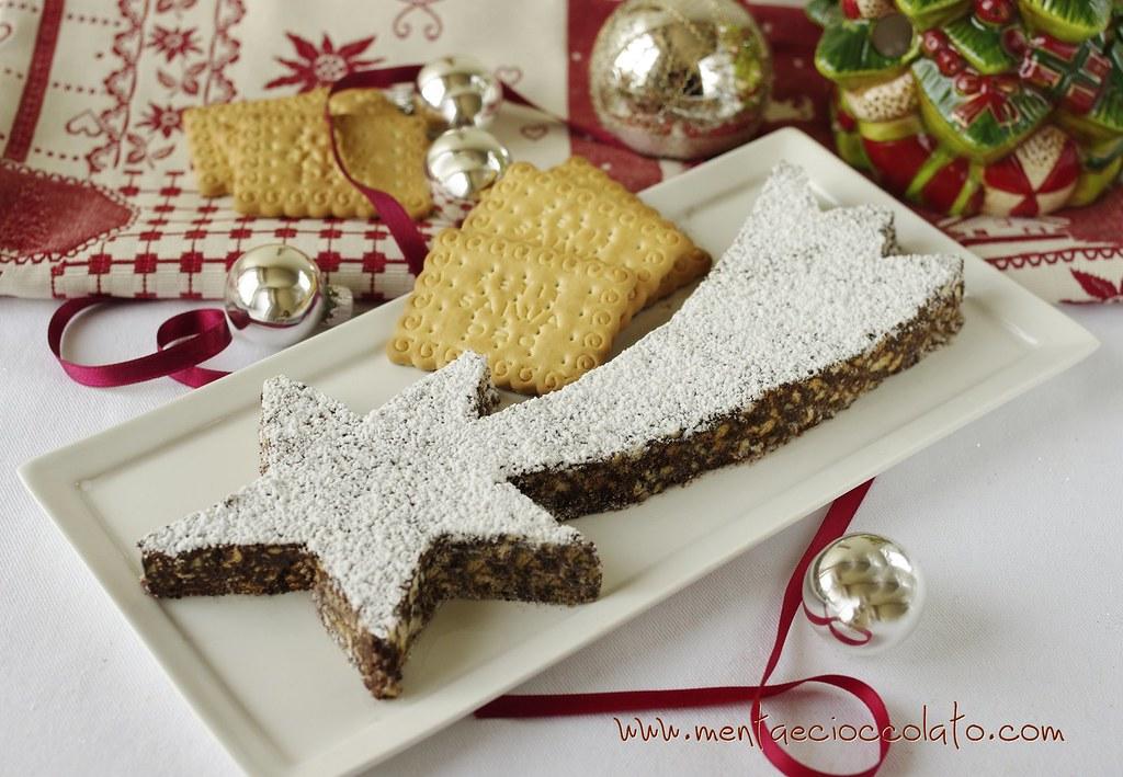 Torta Stella Di Natale.Menta E Cioccolato Stella Cometa Di Cioccolato