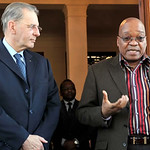 President Jacob Zuma meets President of International Olympic Committee, 7 Jul 2010