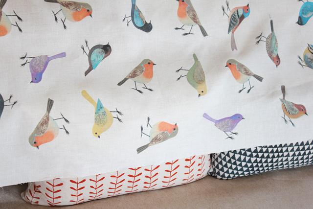 Birds on linen