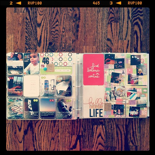 #projectlife week 46 full spread no inserts