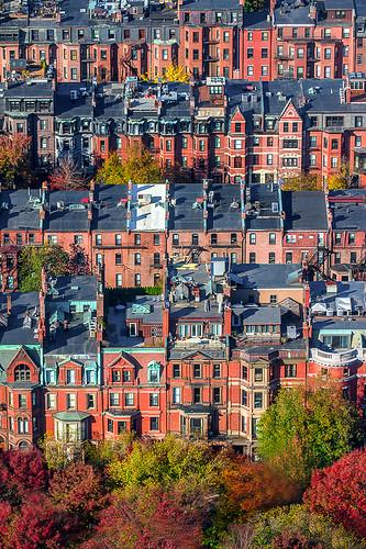 autumn red orange green fall colors yellow boston architecture canon ma newengland aerial fallfoliage backbay canon7d