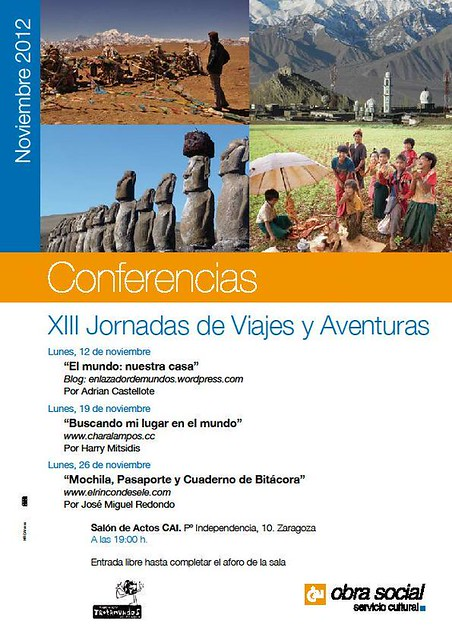 Cartel XIII Jornadas de viajes y aventuras (Zaragoza)