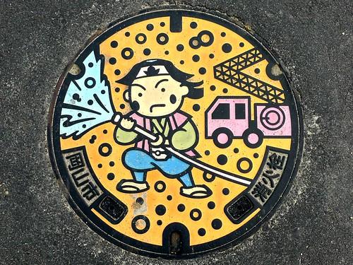 Okayama city Okayama pref, manhole cover 2 (岡山県岡山市のマンホール2)
