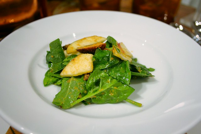 Spinach, Apples, and Pumpkin Vinaigrette