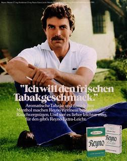 Reyno (1978) Menthol Zigaretten - Tom Selleck