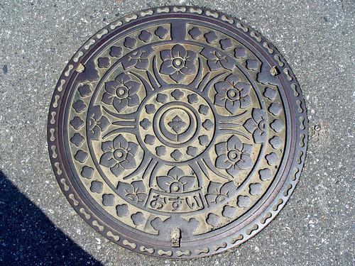 Anpachi town Gifu pref, manhole cover (岐阜県安八町のマンホール)