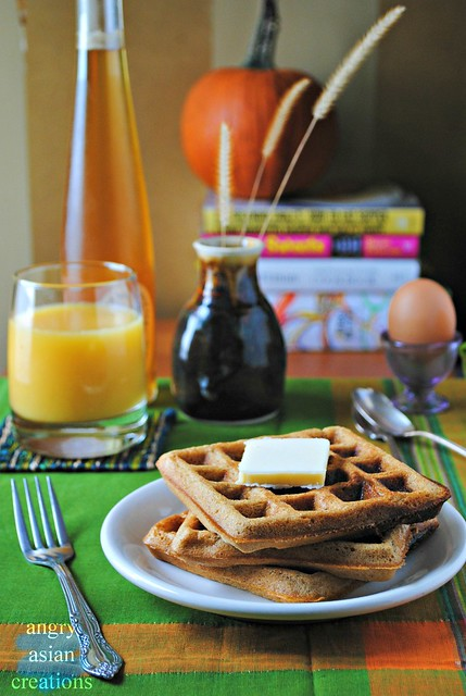 Soaked Butternut Squash Waffles