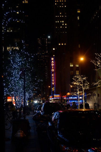Outside Radio City Music Hall