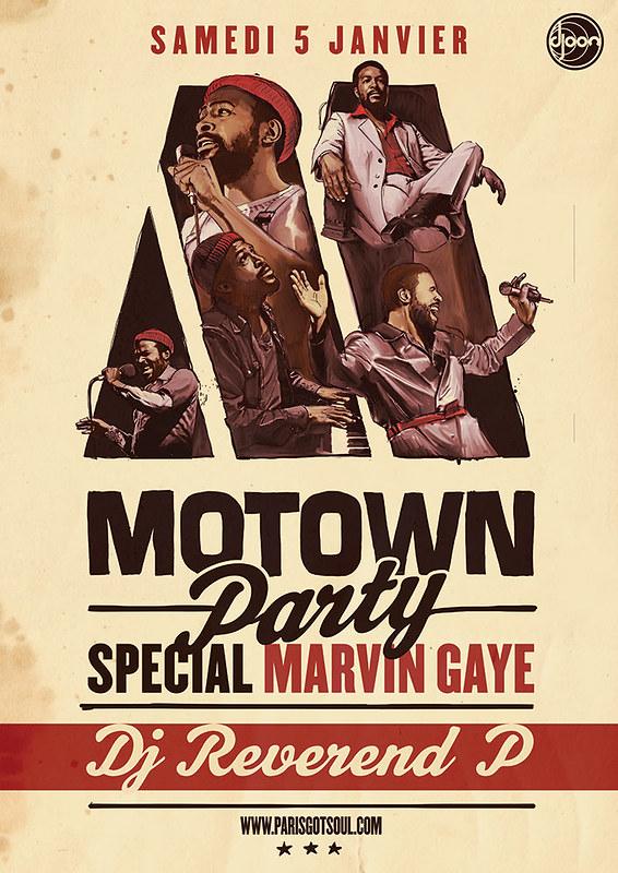 Motown Party Postcard 1/12