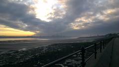 Sunrise over Liverpool from Vale Park Promenade Gates: Copyright 30th November, 2012 Kevin & Jane Moor