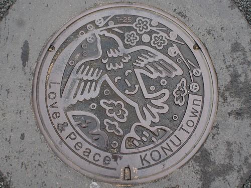 Konu town Hiroshima pref, manhole cover (広島県甲奴町のマンホール)