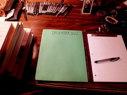 December 2012 diary