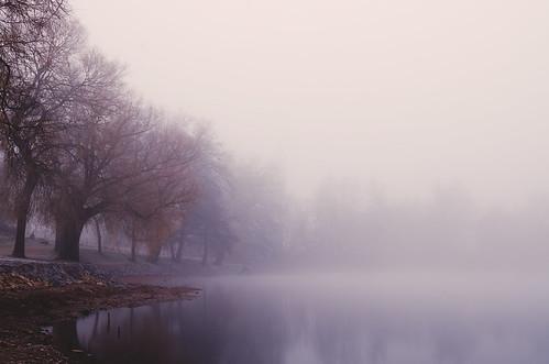 [フリー画像素材] 自然風景, 河川・湖, 霧・霞, 風景 - デンマーク ID:201212060600