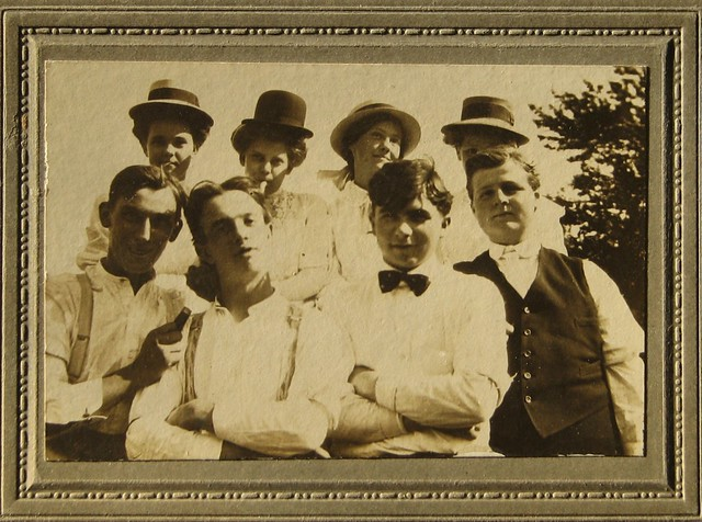 Edwardian Snapshot Young Libertines Funny Photo Signed