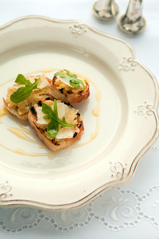 toast with parsnip and parmesan