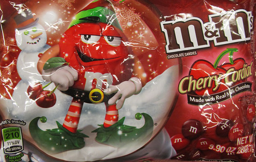 Christmas M&M Cherrry Cordial Packaging