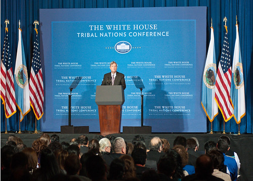 Agriculture Secretary Tom Vilsack speaks at the Fourth Annual White House Tribal Nations Conference at the U.S. Department of Interior in Washington D.C. on Wednesday, Dec. 5, 2012.