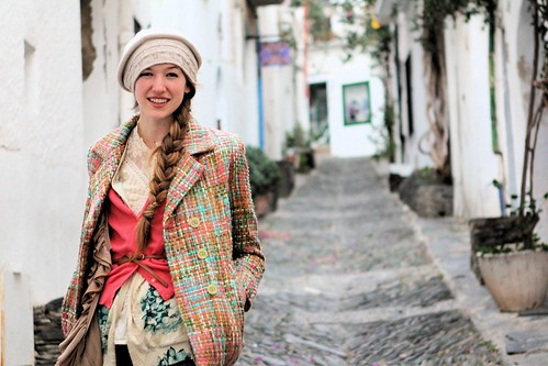 Tess in street in Cadaques_0312