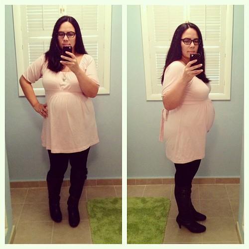 31 weeks. Large and in charge. #pregnancy #31weeks