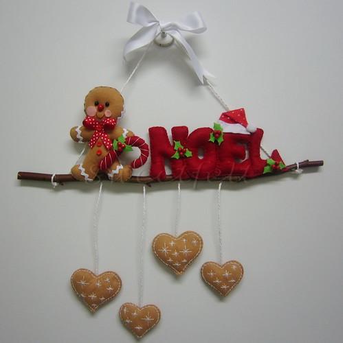 ♥♥♥ Guirlanda Gingerman ... by sweetfelt \ ideias em feltro