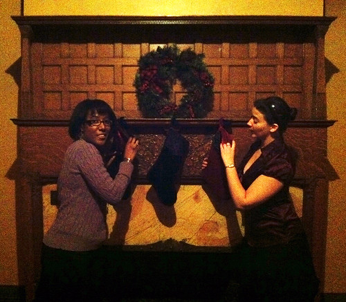 Katie and Brandae Stocking