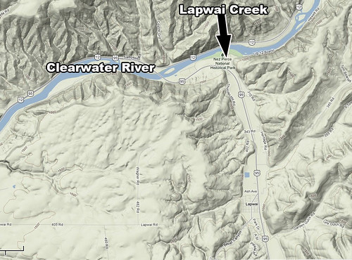 Lapwai Creek Map
