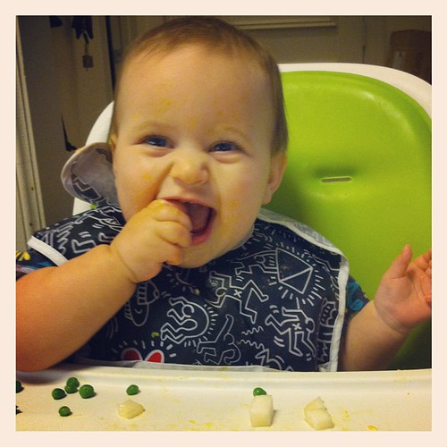 The newest Christmas pear convert #babyledweaning @_grits