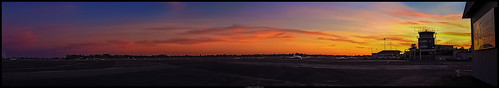 california sunset panorama tower art airplane airport nikon ramp control sacramento executive runway ©markpatton p7700