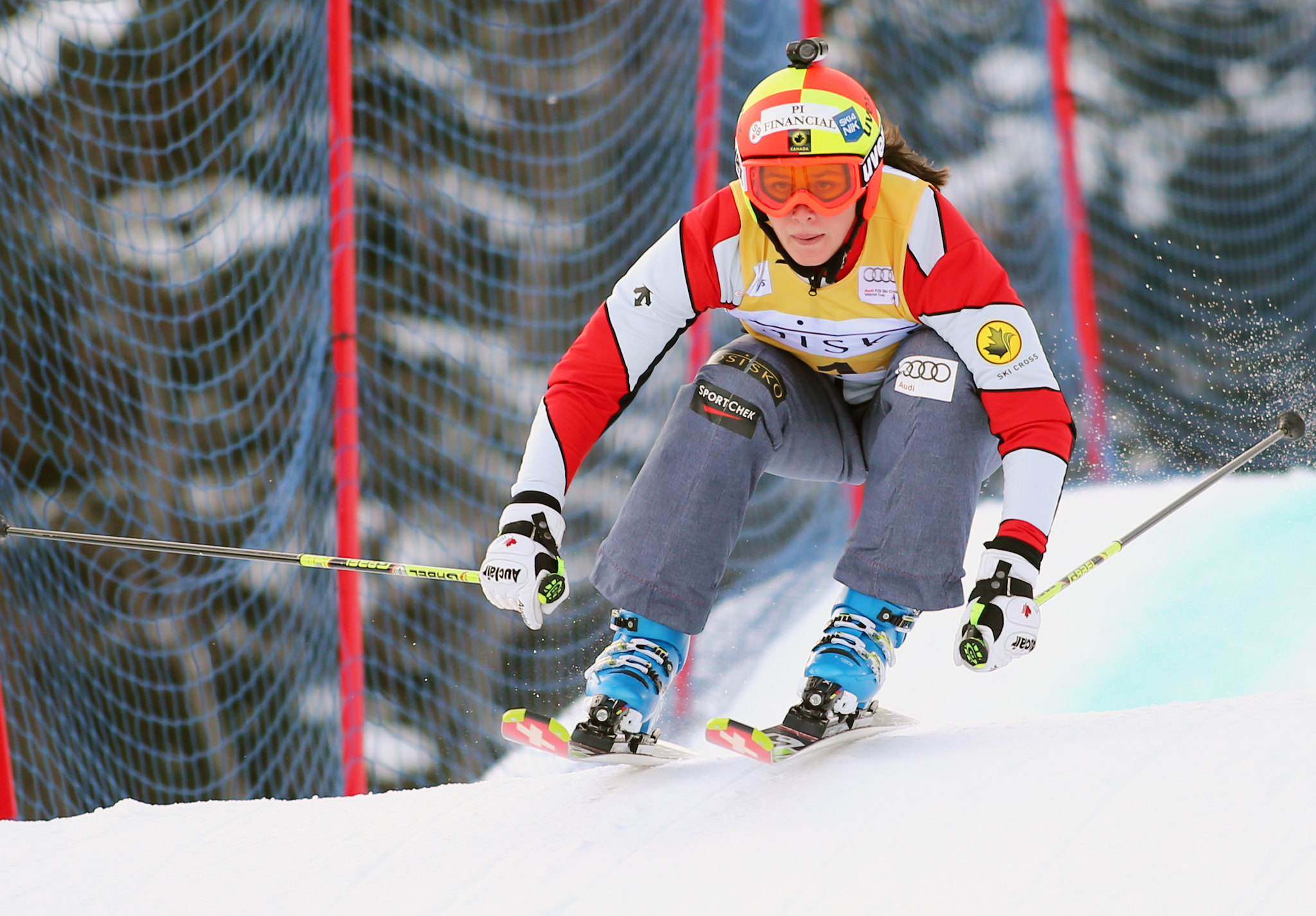 Marielle Thompson at the inaugural Nakiska ski cross World Cup.
