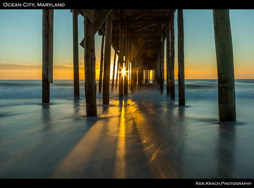 ocean sunrise pier maryland oceancity atlanticocean oceancityfishingpier