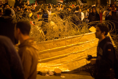 Breaking the barricades at the presidential palace. Again.
