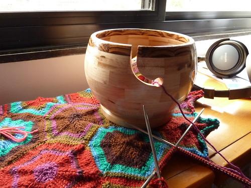 tigela de lã
