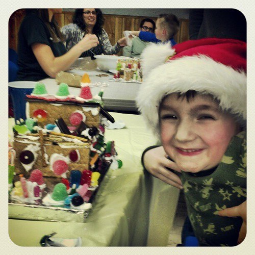 Gabe's graham cracker house!!!!