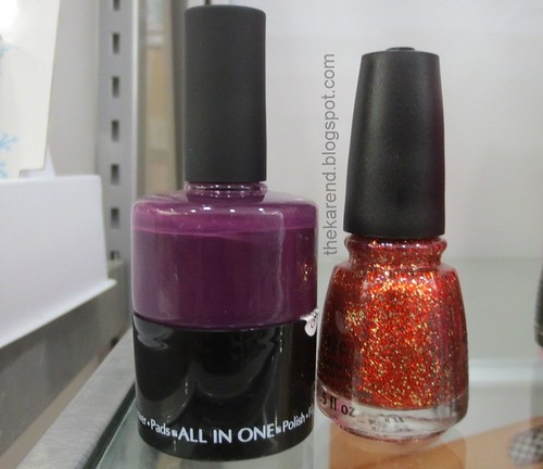 Unwieldy Nail Pak next to normal bottle
