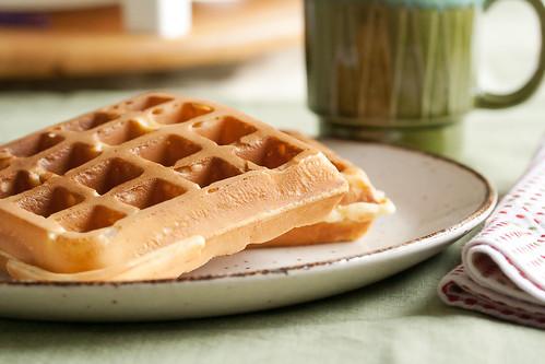 Egg Nog Waffles