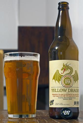 Alley Kat Yellow Dragon Double IPA 10/24 by Cody La Bière