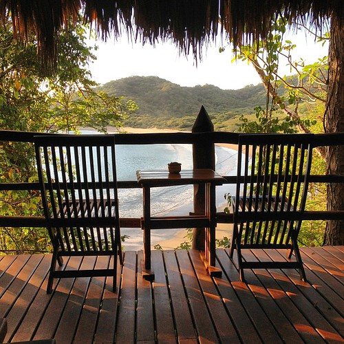 A room with a view, over Playa Ocotal, #Nicaragua #mymorningcoffee