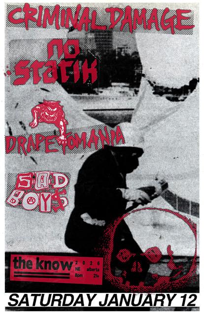 1/12/13 CriminalDamage/NoStatik/Drapetomania/SadBoys