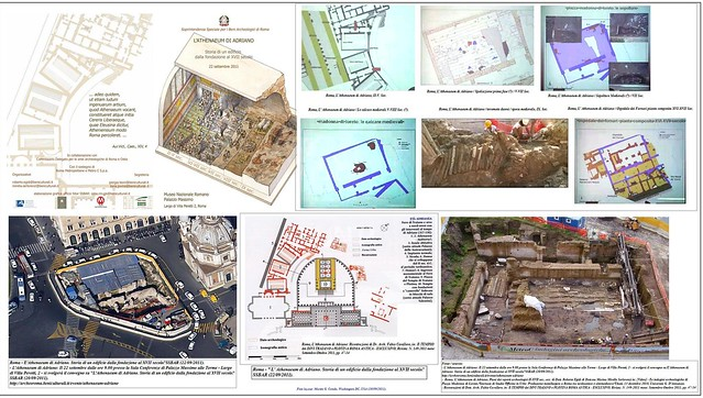 ROMA ARCHEOLOGIA: L' edifico era a due piani, e resale al 123 d.C., L' Auditorium di Adriano spunta a Piazza Venezia, CORRIERE DELLA SERA (13/12/2012), p. 9. [SSBAR - L'ATHENAEUM DI ADIANO - STORIA DI UN EDIFICO (22/09/2011)].