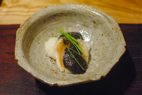Steamed Rice topped with Scallop and Seaweed Sauce