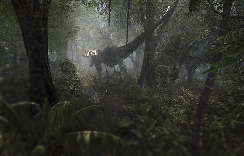 Tyrannosaurus In The Swamps