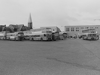 King's Lynn bus station in the early 1980's (c) Colin Apps