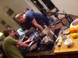 Die @blogrebellen sind da.. Die Technik wird aufgebaut #rbllntv