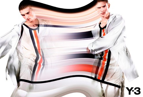 Juliane Gruner & Guerrino Santulliana by Pierre Debusschere for Y-3-7