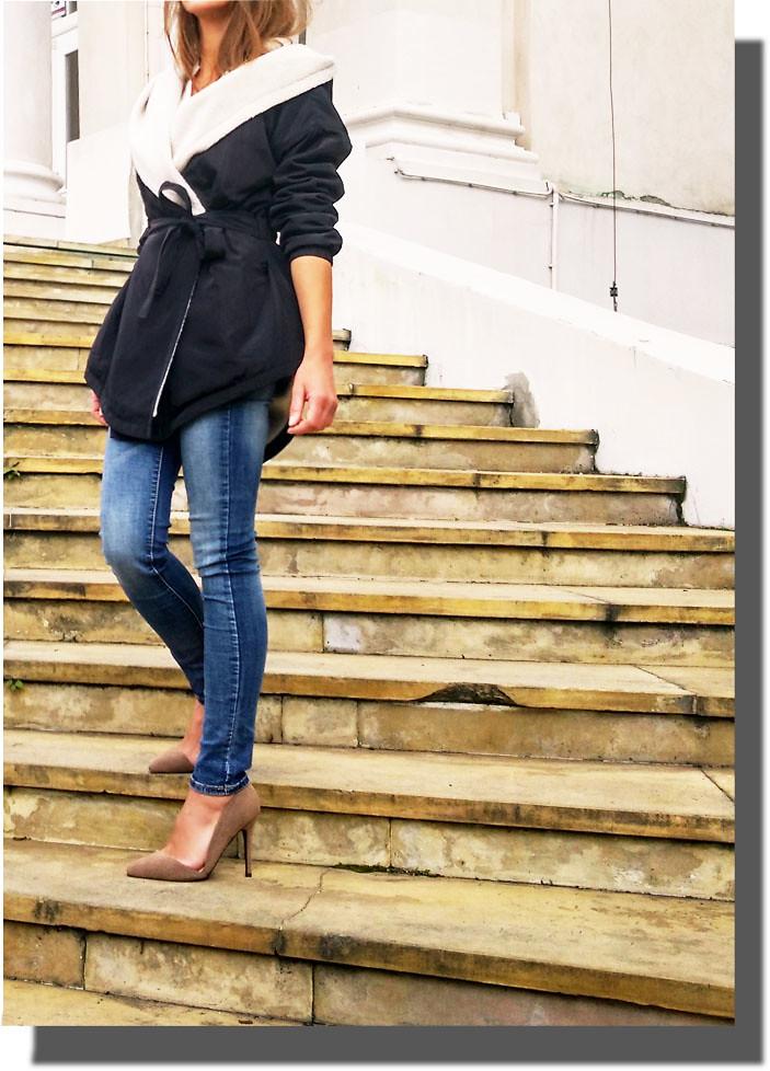 4dd0ded1585e4 KURTKA PARKA DAMSKA z KAPTUREM WIĄZANA BARANEK na JESIEŃ ZIMĘ WIOSNĘ model #116  FASHIONAVENUE.