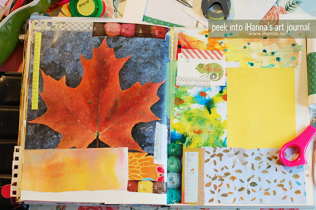 Art Journal Peek: Using Nature's Colors