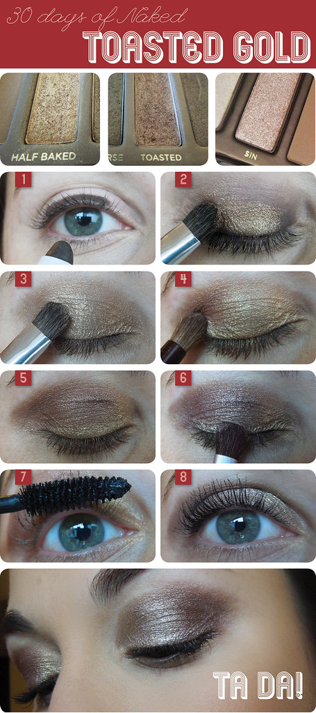 Toasted Gold Naked Palette Look - Wake Up For Makeup