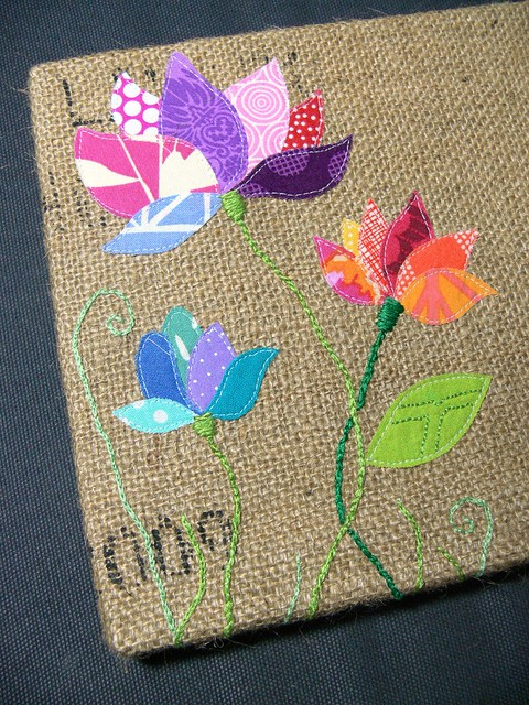 "Jenny Bartoy: ""Gratitude"" Burlap Art"