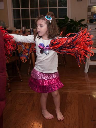 Sparkly cheerleader