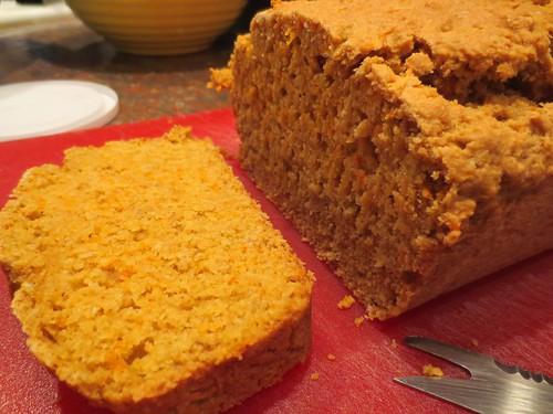 carrot okara bread
